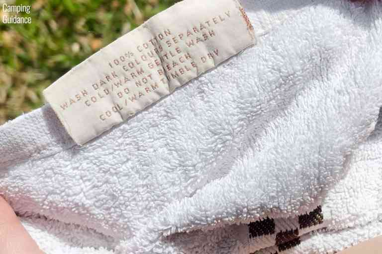 The 100% cotton towel that I used as a control towel in all my camping and backpacking towel tests.