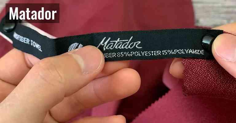 The Matador NanoDry has an 85% polyester and 15% polyamide/nylon blend.
