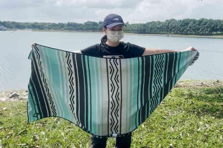The Nomadix Original towel, unfolded.