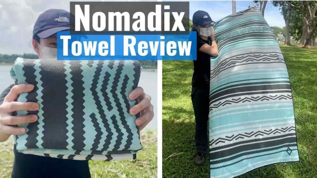 Nomadix towel folded and unfolded