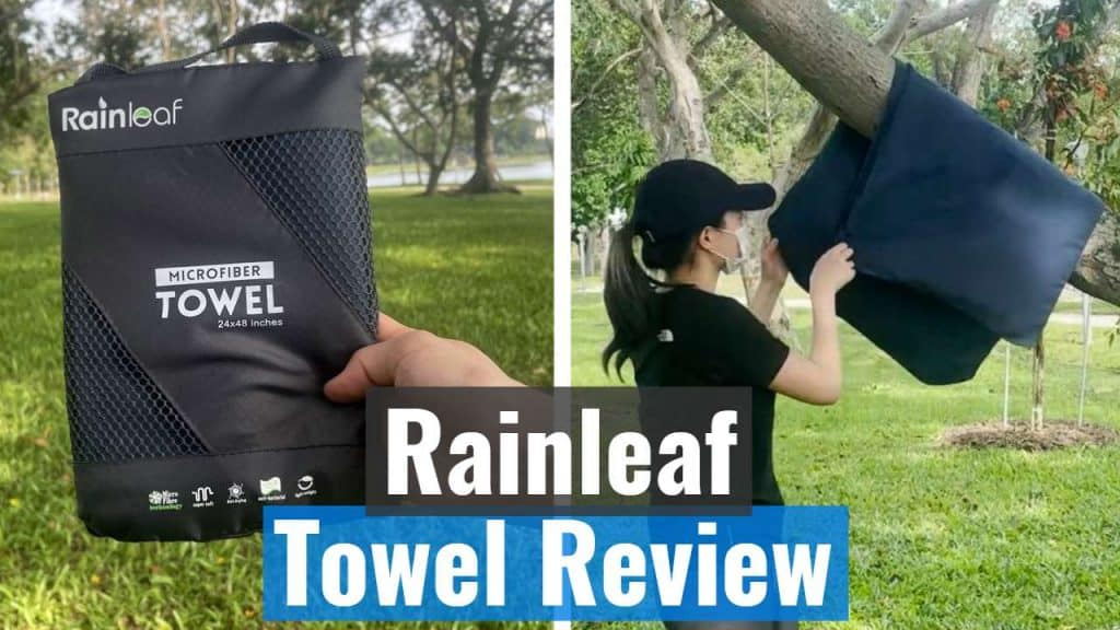 Rainleaf in storage pouch and on a tree