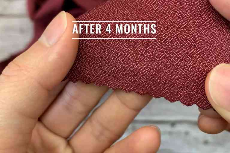 Stitching of the Matador NanoDry after 4 months - still completely intact.