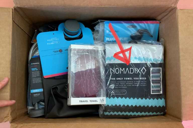 Unboxing the Nomadix Original Towel from REI Co-Op (along with some other stuff).