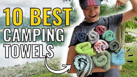 I bought, tested and compared 10 of the best camping towels – PackTowl Personal, PackTowl Luxe, Sea to Summit DryLite, Sea to Summit Tek, Nomadix Original, REI Multi Towel, REI Multi Towel Lite, Matador NanoDry Shower, Wise Owl Towel, and the Rainleaf Towel.