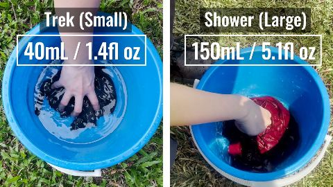 I soaked both the Matador NanoDry Trek and Shower Towels to test absorbency.