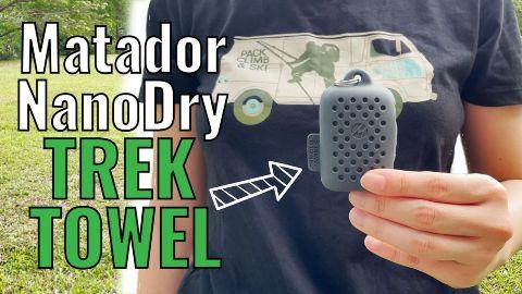 Me holding the Matador NanoDry Trek Towel