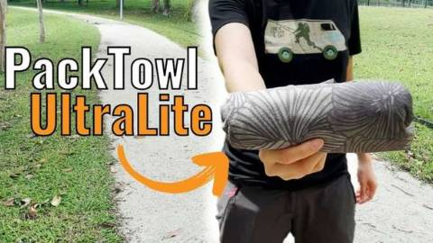 Holding the PackTowl UltraLite Towel
