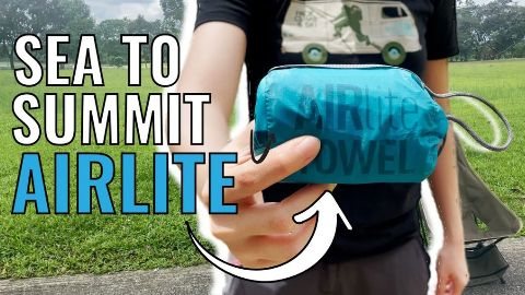 Me holding the Sea to Summit AirLite Towel